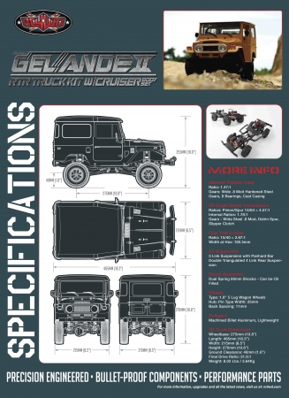 RC4WD GELÄNDE II RTR TRUCK KIT W/CRUISER BODY SET